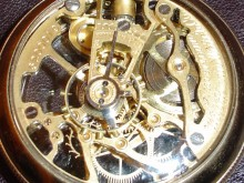 Back view of a Skeletonized 18 size Pocket Watch