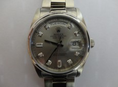 Solid White Gold 118209 ROLEX President overhaul and Insurance Valuation Photo