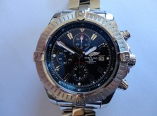 Breitling Super Avenger case and crown repair and refinish Photo
