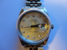 Diamond dial DateJust repair and overhaul